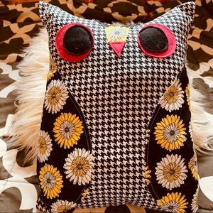 Other - Handmade yellow and black owl throw pillow